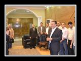 رئيس جامعة بنها يكرم الأطباء المتميزين داخل مستشفيات بنها الجامعية