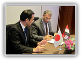 الأستاذ الدكتور/ السيد يوسف القاضي في زيارة لمعهد كيوشو للتكنولوجيا Kyutech باليابان