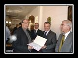 رئيس الجامعة يكرم من ساهموا في رفع تصنيف الجامعة العالمي بالتصنيف الأسباني webometrics