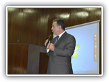 أ.د/ علي شمس الدين - رئيس الجامعة يشهد حفل تنصيب اتحاد كلية التجارة