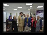 أ.د/ غازي عصاصة، وأ.د/ حسين دري أباظة مع أعضاء من فريق البوابة الإلكترونية