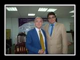 أ.د/ غازي عصاصة - المدير التنفيذي للمعلومات وأ.د/ حسين دري أباظة - عميد كلية التربية الرياضية