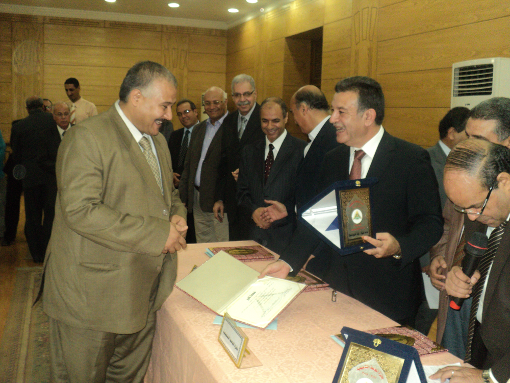 Honoring the Winners of Benha University Awards
