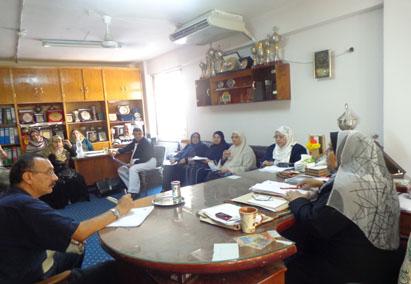 إجتماع مدير عام رعاية الشباب برؤساء الأجهزة فى الكليات