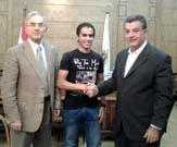 اجتماع أ.د/ على شمس الدين رئيس جامعة بنها مع سفير جوجل بالجامعة