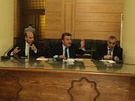اجتماع رئيس الجامعة مع السادة مسئولي الصيانة بالجامعة