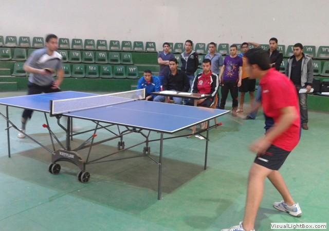 نتائج بطولة تنس الطاولة لطلبة كليات  2012 / 2013
