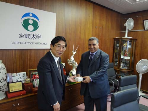 Agreement of an Exchange between Benha University and Miyazaki University