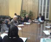 إجتماع رئيس الجامعة والنواب مع مديرى مركز المعلومات والتوثيق