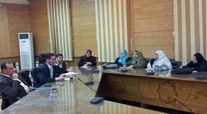 أجتماع أ.د/ سليمان مصطفى نائب رئيس الجامعة  برؤساء اجهزة رعاية الشباب بالكليات
