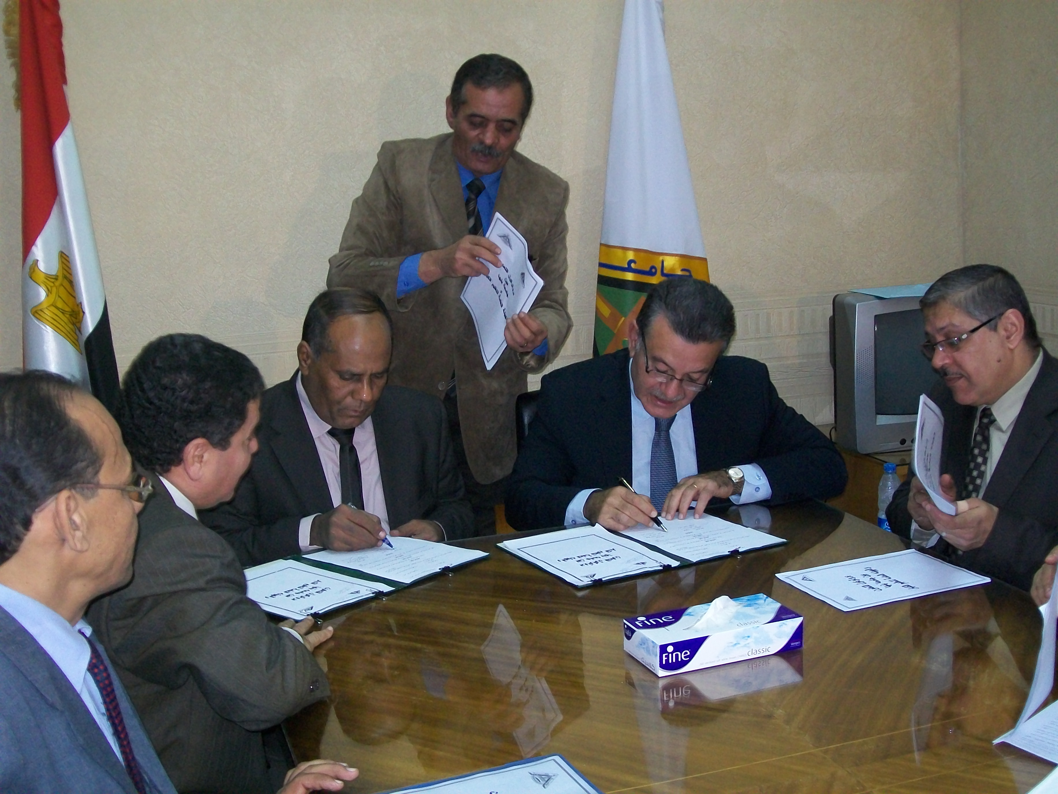 Cooperation between Benha University and Adult Education Authority