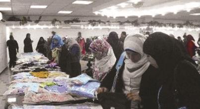 معرض الملابس الخيري بجامعة بنها