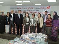 معرض للملابس الجاهزة بأسعار رمزية لطلاب جامعة بنها