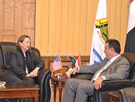 Benha University receives the Counselor for Press and Cultural Affairs at the U.S. Embassy in Cairo