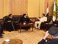 Delegation from the Orthodox Church visits the University on the occasion of Eid Ul-Fitr