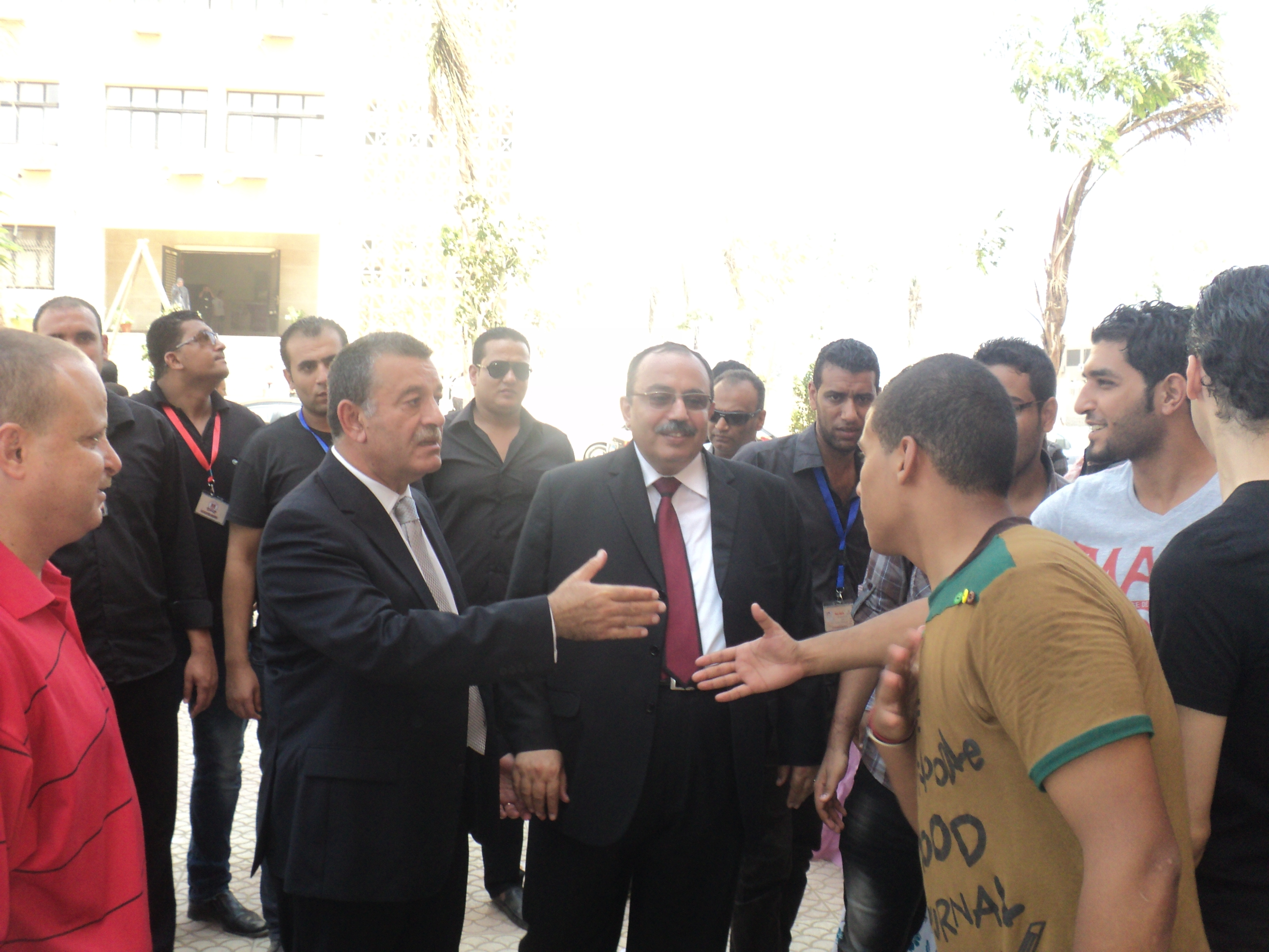 Qalyoubia Governor and Benha University President inspect the Faculties