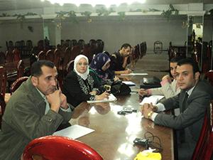 المؤتمر المرئي بالمجلس الأعلى اللجامعات للتعرف على نظم تطوير الإمتحانات والتقييم