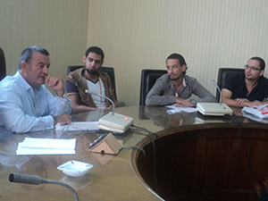 Benha University President meets the Students Union