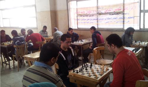 تنظم جامعة بنها دورى الشطرنج بكلية الهندسة