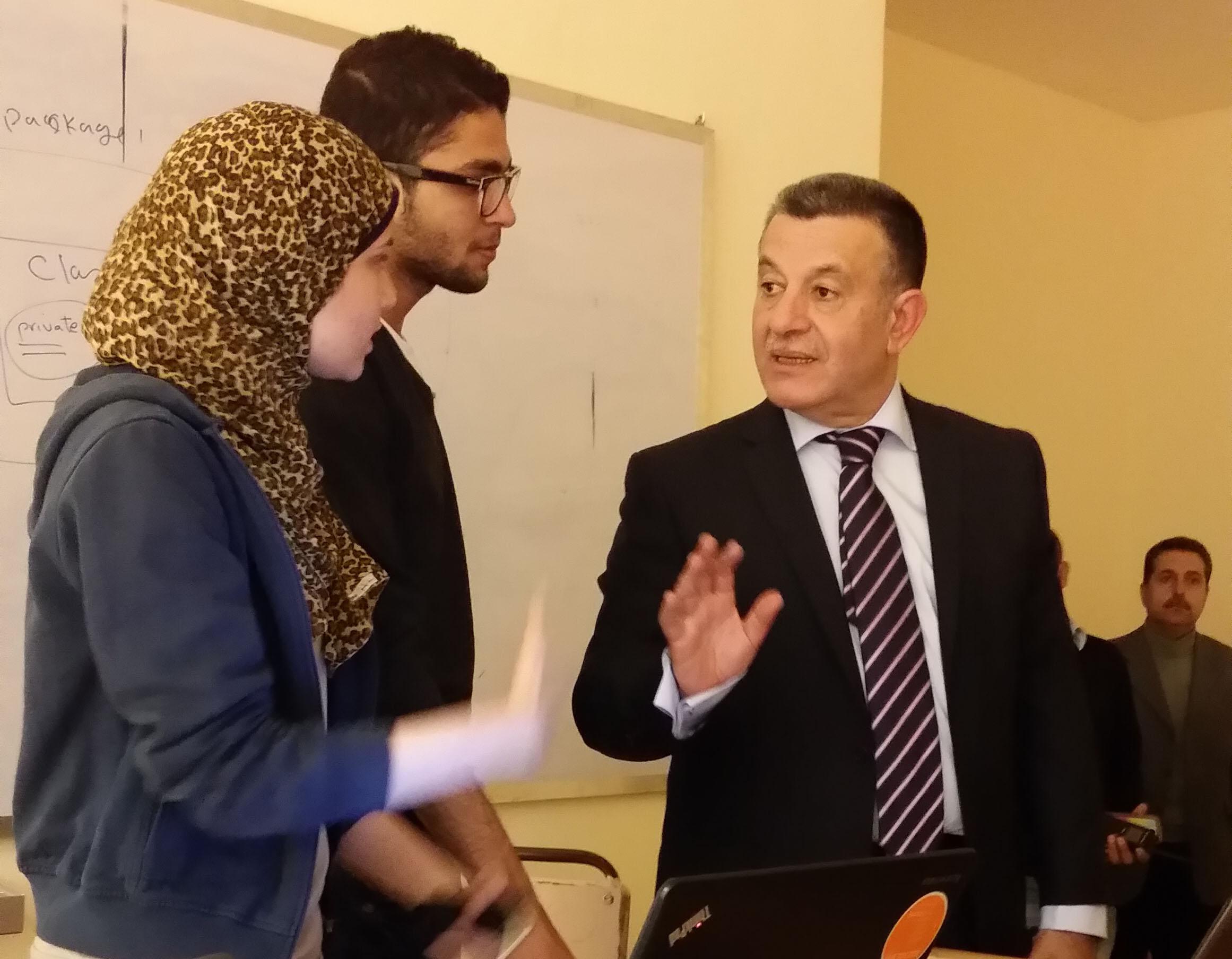 زيارة رئيس الجامعة لكلية الحاسبات والمعلومات