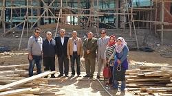 زيارة إلي منشأت الجامعة الأهلية بمدينة العبور