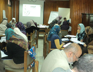 ورشة عمل حول توصيف البرامج وخرائط المنهج بكلية  الطب البشري