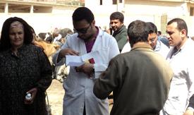 القافلة البيطرية بقرية ترسا توقع الكشف على 70 حالة
