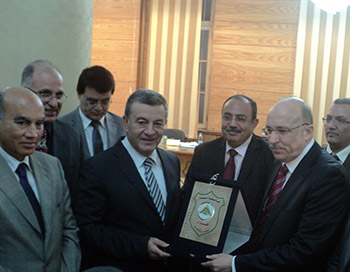 Benha University Council honors the Minister of Health