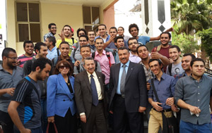Prof. Dr. Mustafa El Sayed Visits the Faculty of Engineering in Shubra