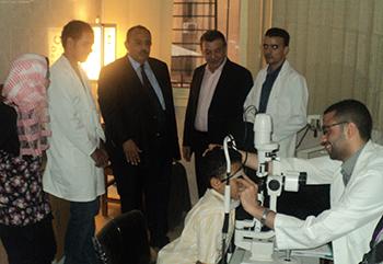 محافظ القليوبية  ورئيس جامعة بنها يتفقدان أعمال تطوير استقبال بالمستشفيات الجامعية