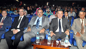 The University President and Qalyoubia Governor in the Faculty of Engineering Ceremony