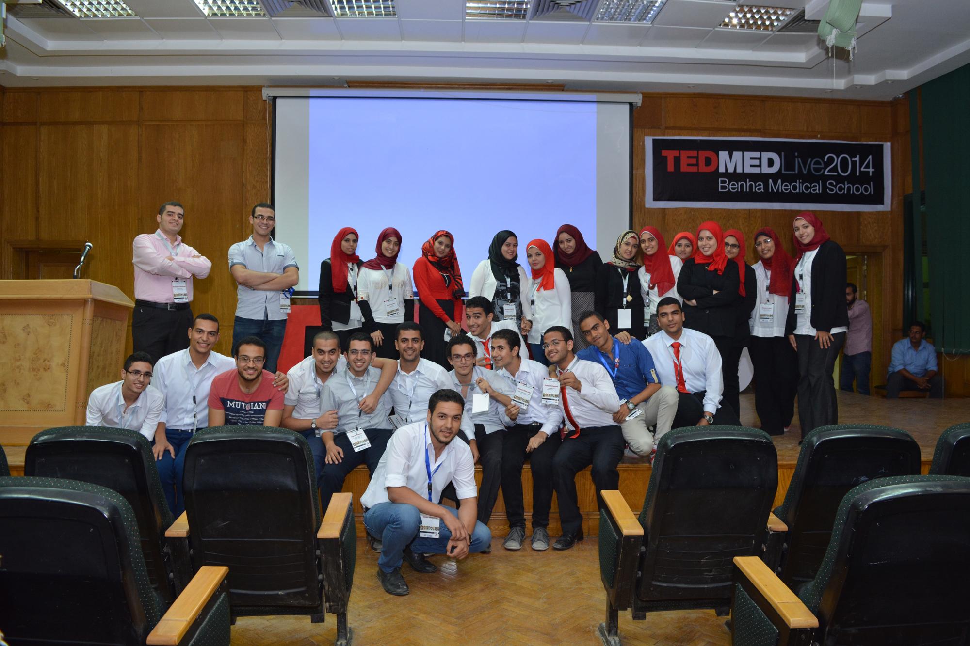 فاعليات مؤتمر تطوير أنظمة الصحة بالعالم  TEDMED Live Benha medical school