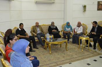 لقاء أ.د/ سليمان محمد مصطفي مع الطلاب المتميزين والمختارين من معهد إعداد القادة
