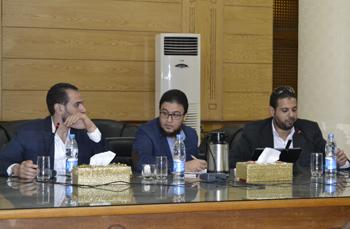 إجتماع الفريق الاداري والفريق التنفيذي لمشروع تطوير النظام الإداري بجامعة بنها