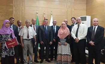 مجلس جامعة بنها يكرم الأساتذة الفائزين بجوائز الجامعة