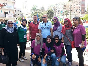 نائب رئيس الجامعة لشئون التعليم والطلاب يتابع وفد الجامعة في الألمبياد الخامس للجامعات المصرية