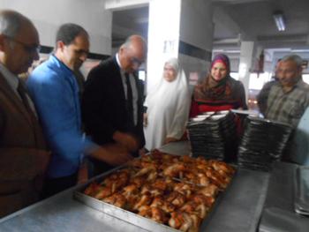 نائب رئيس الجامعة لشئون التعليم والطلاب يتفقد المدن الجامعية بكفر سعد
