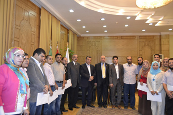 Prof. Dr. Ali Shams honors the Distinguished Doctors in Benha University Hospitals