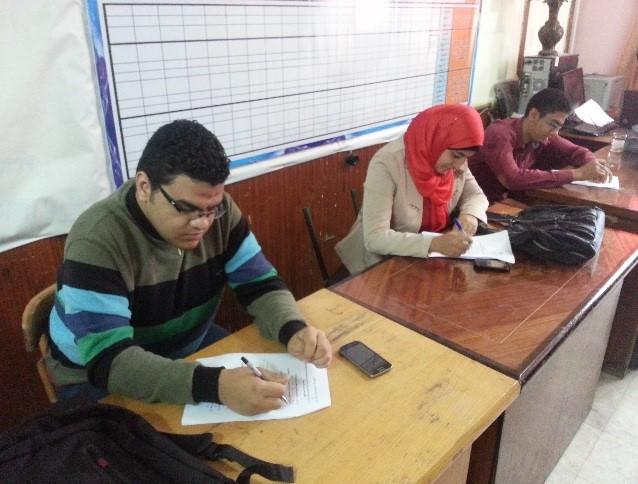 إختبار لمسابقة الطالب والطالبة المثالية على مستوى الجامعة