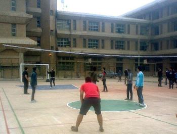 الجوالة الاولى من مباريات الكرة الطائرة على مستوى الجامعة