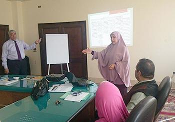 برامج تدريبية لتطوير نظم الامتحانات والتقويم بجامعة بنها