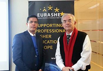 جامعة بنها تشارك بالملتقى السنوي للرابطة اﻻوربية لمؤسسات التعليم العالي ببروكسل Eurashe