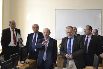 Benha University President receives Delegation of Higher Education Funding Council for England (HEFCE)