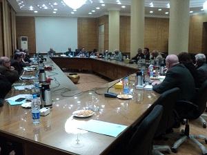 نواب رئيس الجامعة يستعرضون إنجازات قطاعات الجامعة بمجلس العمداء