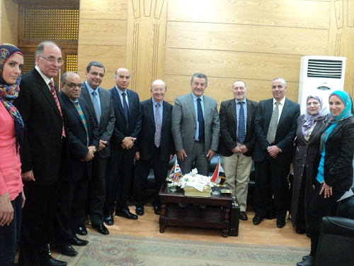 Prof. Dr. El Sayed Abdel Khalek and the British Ambassador discuss the Ways to reform Education