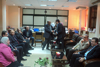 The University President receives the External Reviewing Team of NAQAAE