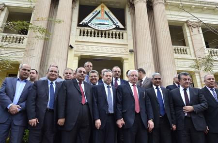 تفاصيل إجتماع المجلس الأعلى للجامعات بجامعة بنها