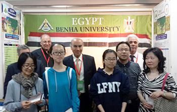 Le commencement des efficacités de la foire de l'enseignement supérieur à Shanghai en Chine