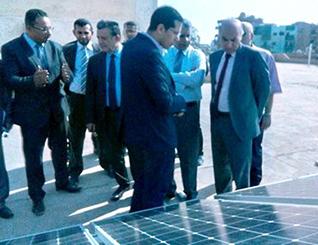 إفتتاح هندسة بنها لمحطة توليد طاقة كهربائية بالخلايا الشمسية