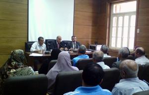 أ.د/ سليمان مصطفى يجتمع برؤساء أجهزة رعاية الشباب لمناقشة خطط العام الدراسي الجديد